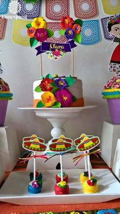 Check out these treats at a fiesta Mexican party! See more party planning ideas at CatchMyParty.com!