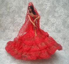 Image detail for -Vintage Large Spanish Doll Flamenco Dancer Red & by spanishangels