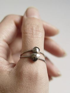 Triangle Pyrite Ring by friedasophie on Etsy, $79.00