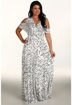 Plus Size Fashion - Girl with Curves - Long Sleeve Maxi Dress ...