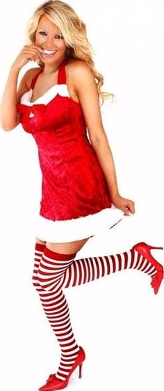 FANCY DRESS SANTA CLAUS COSTUME - MISS SANTA HELPER OUTFIT / LITTLE HELPERS UNIFORM - SEXY ADULT LADIES CHRISTMAS COSTUMES , XMAS OUTFITS , FESTIVE DRESSES & UNIFORMS