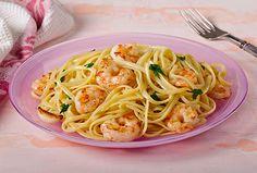 Linguine with Garlic and Shrimp - Kidney-Friendly Recipes - DaVita