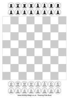 Free Printable Chess for kids - has these pieces and a bigger board with pieces too plus a printout of the rules with diagrams of how each piece moves! Games For Kids, Diy For Kids, Crafts For Kids, Chess Pieces, Game Pieces, How To Play Chess, Printable Board Games, Mini Games, Blog Design