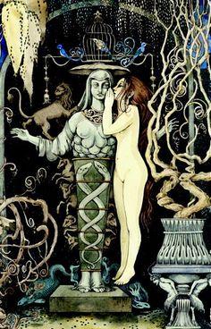 Sveta Dorosheva - from Studies for Tarot Deck