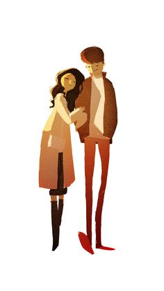 another lovely piece by pascal campion -- her illustration style is AMAZE Character Flat Design, Simple Character, Character Design References, Character Art, Paar Illustration, Couple Illustration, Character Illustration, Digital Illustration, Monster Anime