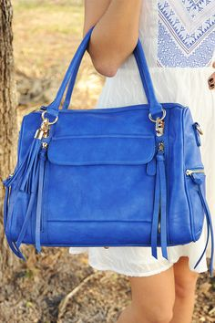By Your Side Purse Royal Blue Love