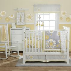 G's nursery inspiration.  The bedding is fabulous.  Grey & yellow is really becoming popular now, but I hadn't seen it before this.