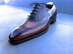Brogues Bespoke patina by Lacour