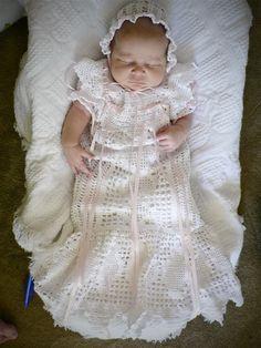 Thread crochet blessing dress- Flashback Friday