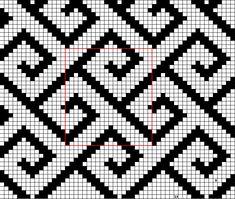 Tapestry Crochet Patterns, Crochet Stitches Patterns, Perler Patterns, Crochet Art, Weaving Patterns, Mosaic Patterns, Knitting Patterns, Crochet Diagram, Filet Crochet