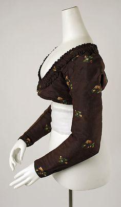 Spencer (image 2) | American or European | 1800-1830 | silk | Metropolitan Museum of Art | Accession #: C.I.38.100.10