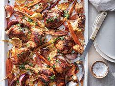 Roast Chicken Recipe With Sumac, Carrots and Cauliflower