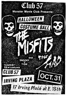 Old Punk Flyers : Photo Rock Posters, Concert Posters, Misfits Band, Irving Plaza, Danzig Misfits, Punk Poster, New Flyer, Movie Club, Metal Magazine