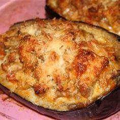 Sausage-Stuffed Eggplant - Allrecipes.com