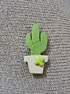 My cactus paper brooch :) Cactus, Brooch, Paper, How To Make, Brooches