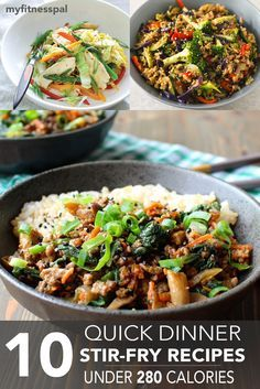 10 Quick Dinner Stir-Fry Recipes Under 280 Calories