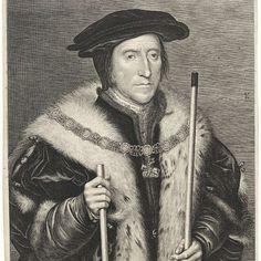 Portret van Thomas Howard, graaf van Norfolk, Lucas Vorsterman (I), after Hans Holbein (II), 1624 - 1630 - Rijksmuseum