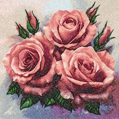 Roses photo stitch free embroidery design 17 - Photo stitch embroidery - Machine embroidery forum