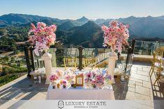 Pink and gold sweatheart table| Wedding Planning & Design by Luxury Estate Weddings & Events | luxuryestateweddings.com