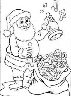 santa claus and spongebob snow skiing christmas coloring pages pinterest santa christmas colors and free printable