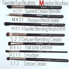 ❤️ fave brushes to blend out shadows and define those Add these to your list and share your go-to Morphe brushes in a comment below #morphegirl