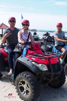 #Travel ~ Check out our 4-wheeled quad bikes that took us travelling on an adrenaline-pumping ride through dirt tracks and jungle trail in #BintanLagoonResort!