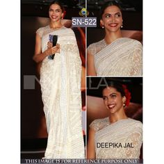 Dipika Off White Color Georgette Bollywood & Wedding Saree  Shop this amazing style Salwar Suit for just Rs.2399/- only on www.vendorvilla.com Cash on Delivery, Easy Returns, Lowest Price