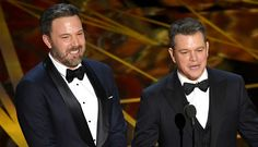 Ben Affleck & 'Guest' Matt Damon Present at Oscars 2017, Matt Gets Played Off by Jimmy Kimmel | 2017 Oscars, Ben Affleck, Jimmy Kimmel, Matt Damon, Oscars : Just Jared