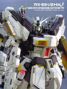 GUNDAM GUY: Gundam Papercraft: RX-93-V2 Hi Nu Gundam