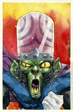 ROGER CRUZ BLOG: Mojo Jojo_Macaco Louco watercolor