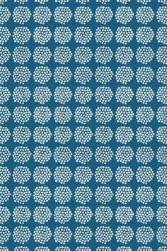Puketti organic cotton fabric by Marimekko. Available at Workroom Couture Home