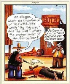 Gary Larson Far Side, The Far Side, Funny Cartoons, The Fool, Humor, Writing, Shit Happens, Comics, Humour