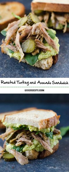 Roasted Turkey and Avocado Sandwich is a great twist on your leftover turkey. A simple yet rich, creamy, healthy and very tasty sandwich.