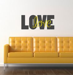 LOVE love wall decal quote  vinyl wall decal  by circlelinestudio, $38.50