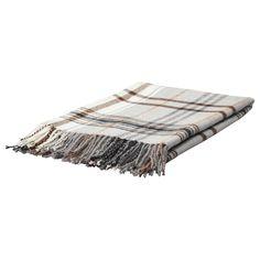 IKEA: HERMINE Throw - beige/brown plaid, $20