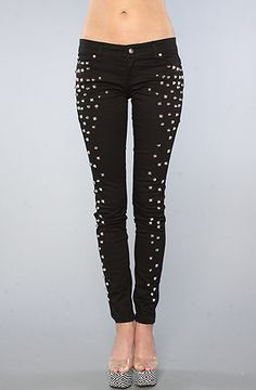 We all need a little bling once in a while. Would be super chic w/ a white collared shirt. Tripp NYC The Studded Jean : Karmaloop.com - Global Concrete Culture