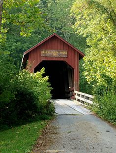 covered bridge by shutterfool. this bridge is actually in indiana, but it reminds of some in michigan.