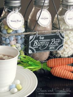 Cute Easter hot chocolate bar!