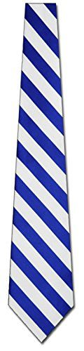 Mens College Royal Blue and White Striped Ties Stripes Necktie  http://www.yourneckties.com/mens-college-royal-blue-and-white-striped-ties-stripes-necktie/