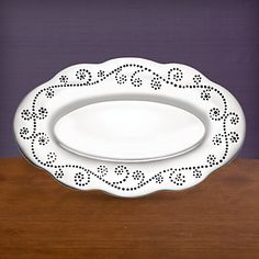 LENOX Your Home: Trays - French Perle Aluminum Alloy Bread Tray