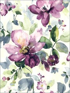Purple Allegra Floral Wallpaper, SBK22393