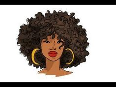 How to draw African American hair - YouTube