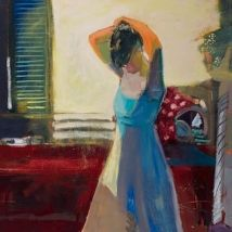 Linda Christensen - Fixing Hair in Kitchen