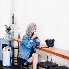 Only thing better than the perfect jean jacket? The perfect cup of black coffee…