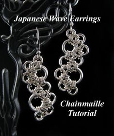 Chainmaille Tutorial for Japanese Wave Earrings PDF Instructions Only. $ 7.00, via Etsy.