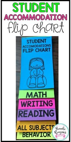 b8c230cbd1c4 Student Accommodations Flip Chart  A quick reference for teachers