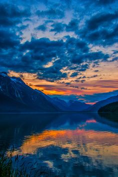 Sunset - Chilkoot Lake, Haines, Alaska-My home town. gone fishin' here with my bro