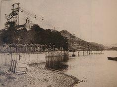 Balde-linea Pobeñan. 1910eko hamarkadan - Línea de baldes en Pobeña. Década de 1910