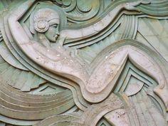 Detail, Folies Bergere, Paris, Franceby Alan Leclaire  One of the most gorgeous pieces of facade sculpture I've ever seen.