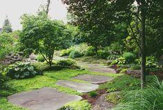 Natural Landscape & Natural Garden Pathway in Bergen County, NJ: Natural Landsca. - The Natural Garden Pathway - Natural Landscape & Natural Garden Pathway in Forest Garden, Garden Paths, Stepping Stone Pathway, Natural Landscaping, Bergen County, Natural Garden, Flowers Perennials, Landscape Photos, Pathways